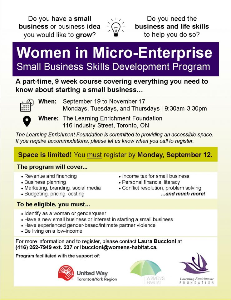 2016 Women in Micro-Enterprise Emerging Entrepreneurs